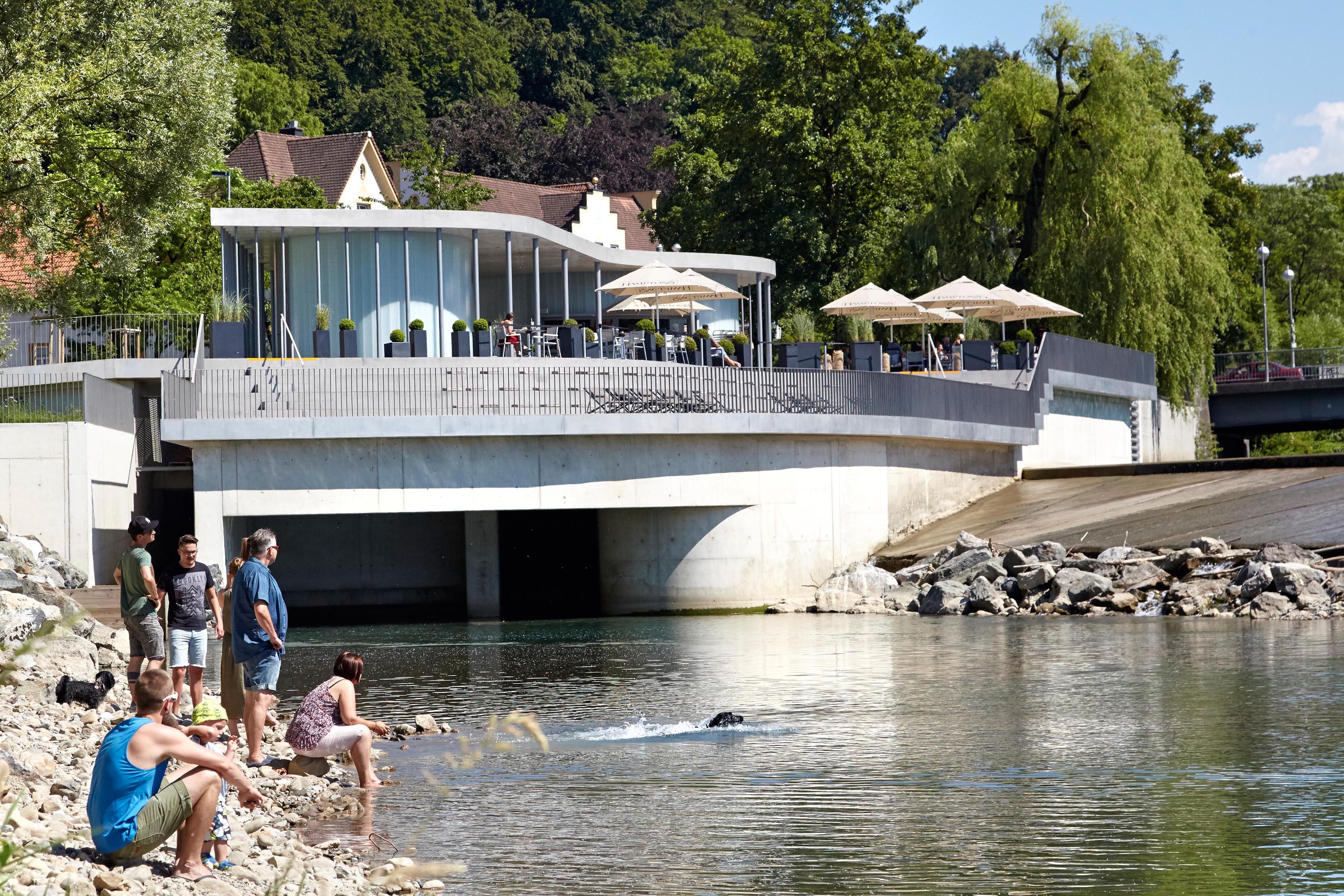 Neubau des Wasserkraftwerkes mit Fischaufstiegshilfe, Illerterrassen ...